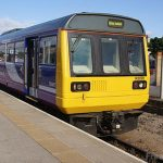 Picture of a Northern Rail Class 142 Pacer diesel multiple unit
